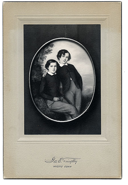 The Whistler Brothers (James and William) a photograph of an 1847 pastel by Emile Francois Dessain
