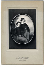 [The Whistler Brothers (James and William) a photograph of an 1847 pastel by Emile Francois Dessain ]