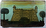 Reproduction of a painting by Antonio Vedovelli of the Castillo de San Marcos