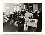 Workers in a print shop for the WPA in Los Angeles