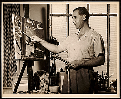 [Hermann Schack von Brockdorff at work]