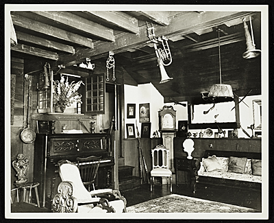 Interior of John Frederick Petos Studio at 102 Cedar St., Island Heights, New Jersey.