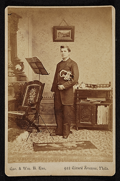 John Frederick Peto at age 25 in a music lesson