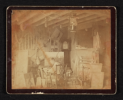 John Frederick Peto in his studio at Island Heights, New Jersey