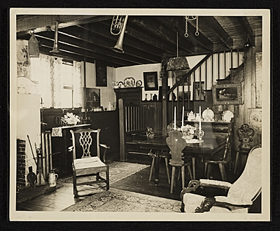 Interior of John Frederick Petos studio, staircase