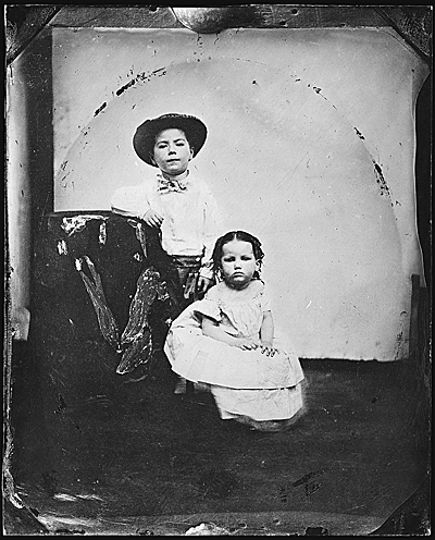 Childhood portrait of John and Ann Peto