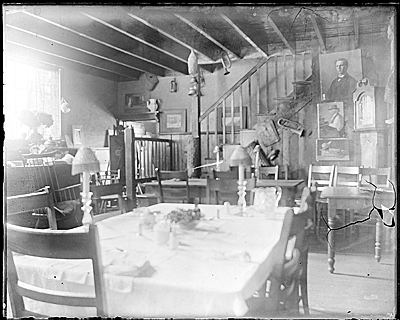 Interior of John F. Petos Island Heights house, view of stairwell