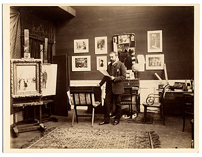 [Jean Beraud in his studio]