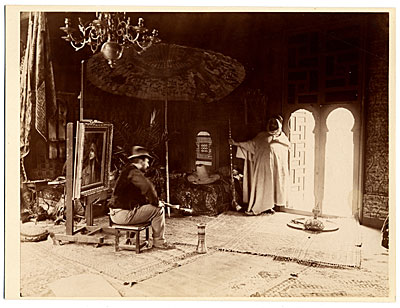 Maurice Bompard in his studio