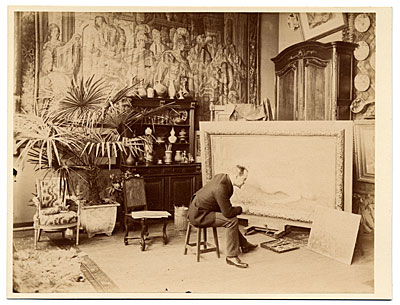 Louis Collin in his studio