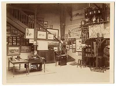 Jean Baptiste Detaille in his studio