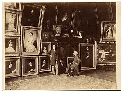 [G. P. A. Healy in his studio]