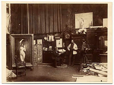 Jules Lefebvre and others in his studio
