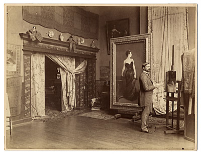 John Singer Sargent in his studio