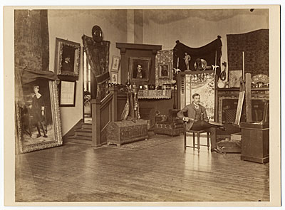George Storey in his studio