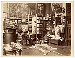 [Gustave Boulanger in his studio sketching ]