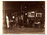 William Bouguereau in his studio painting