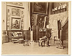 [Alexandre Cabanel in his studio painting ]