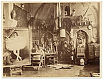 Georges Clairin in his studio