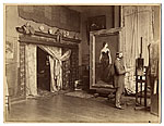 [John Singer Sargent in his studio ]