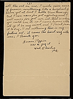 [Horace Pippin, West Chester, Pa. letter to unidentified recipient 1]