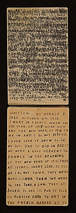 [Horace Pippin memoir of his experiences in France during World War I 2]