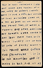 [Horace Pippin memoir of his experiences in France during World War I 30]