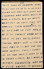 [Horace Pippin memoir of his experiences in France during World War I 51]