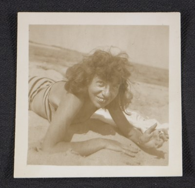 [Lee Krasner at the beach]