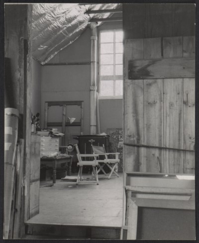 Jackson Pollock's studio one month after his death