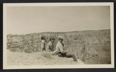 Jackson, Sande, and LeRoy Pollock at the Grand Canyon