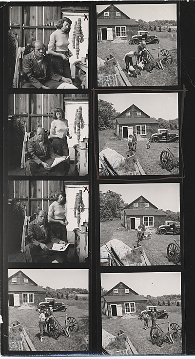 [Jackson Pollock and Lee Krasner at their home in East Hampton, New York]