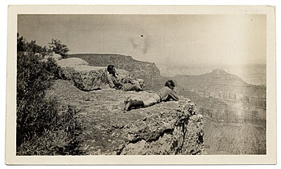 Jackson Pollock and Sande Pollock at the Grand Canyon