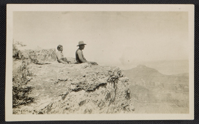 [Jackson Pollock and LeRoy Pollock at the Grand Canyon]