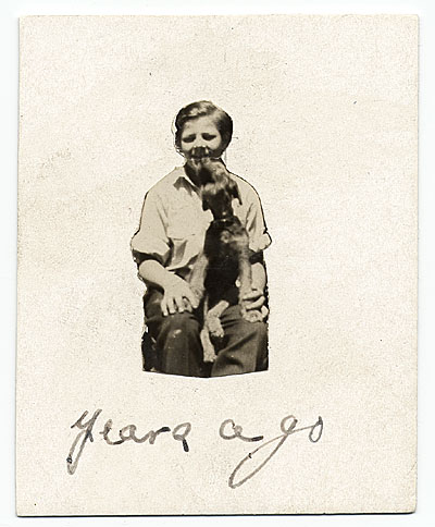 [Jackson Pollock at age 10 with his dog, Gyp]