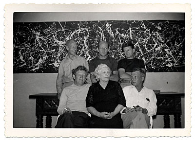 Jackson Pollock with his mother and brothers