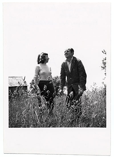 [Jackson Pollock and Lee Krasner in a field]