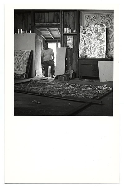 [Jackson Pollock in his studio]