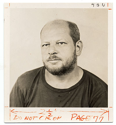 [Jackson Pollock's passport photo]