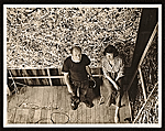 Jackson Pollock and Lee Krasner in Pollock's studio
