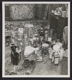 [Cans of paint and canvases in Jackson Pollock's studio 1]