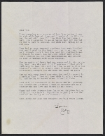 Jay Pollock letter to Lee Krasner
