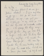 Elizabeth Wright Hubbard letter to Lee Krasner