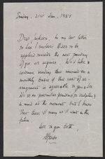 Alfonso A. Ossorio letter to Jackson Pollock
