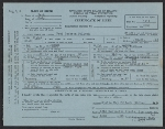 Copy of Jackson Pollock's birth certificate