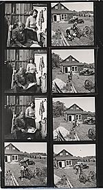 Jackson Pollock and Lee Krasner at their home in East Hampton, New York