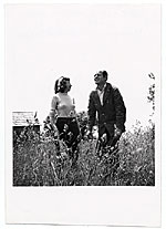 Jackson Pollock and Lee Krasner in a field