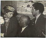Eleanor Roosevelt with Alaine Locke and Peter Pollack