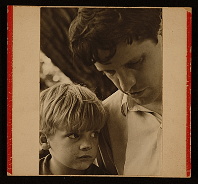 [Fairfield Porter with his son Laurence]