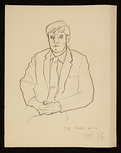 [Drawing of Fairfield Porter]
